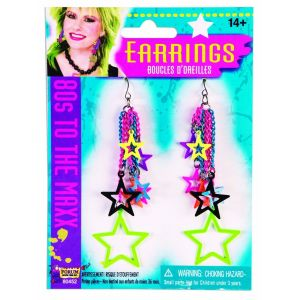 80s Star Earrings