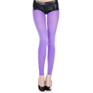 80s Footless Tights Purple